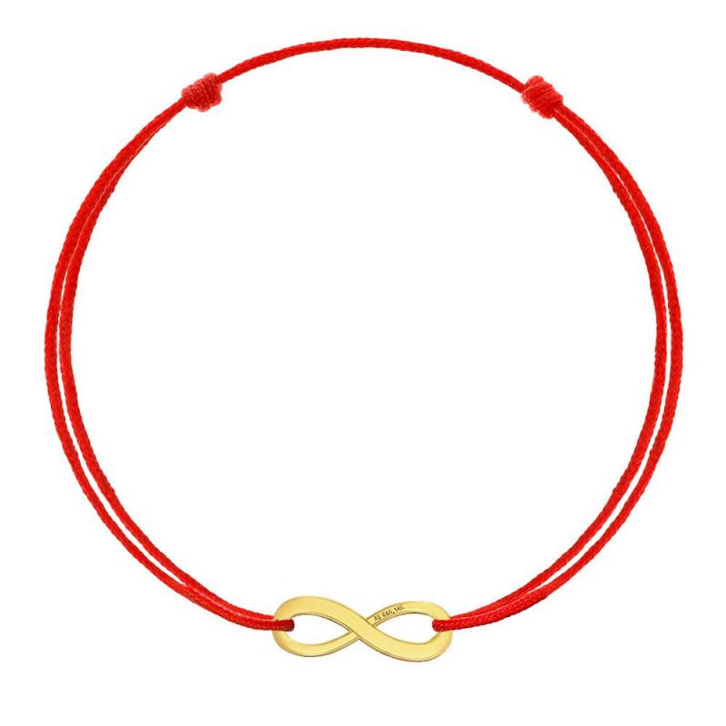 Red kabbalah Infinity, Gold 8K