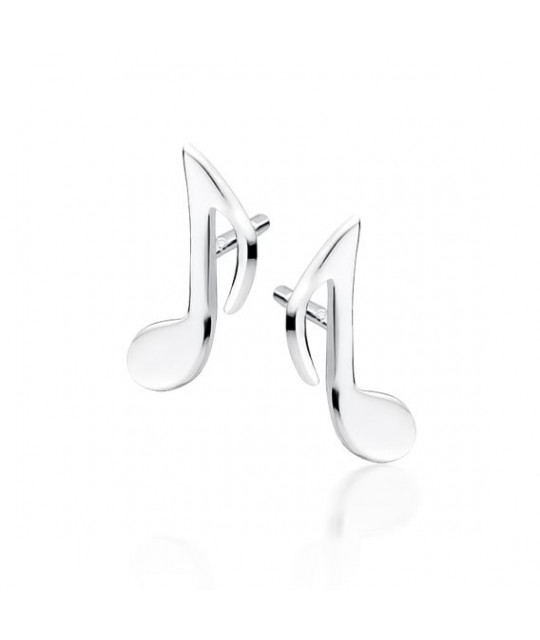 Silver musical earrings