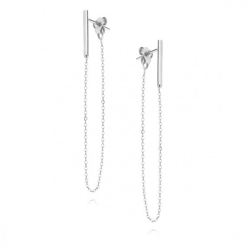 """Silver earrings, """"Сhain"""""""