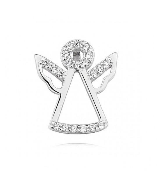Silver pendant with zircon, Angel