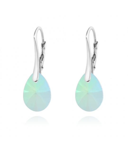 Silver Earrings Pear Xilion Cut, Paradise Shine