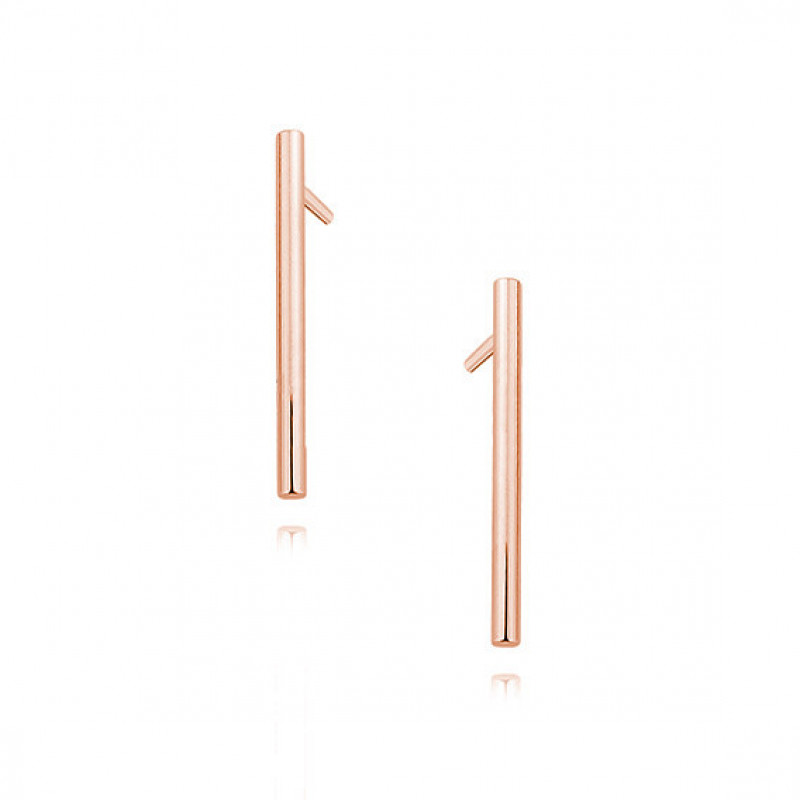 Rose gold-plated silver earrings