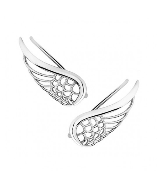 Silver cuff earrings, Wings