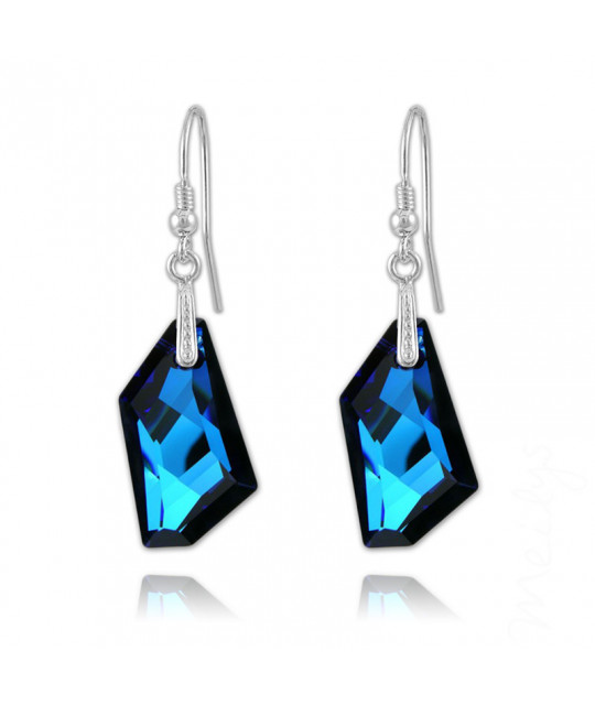 Silver Earrings De-Art, Bermuda Blue