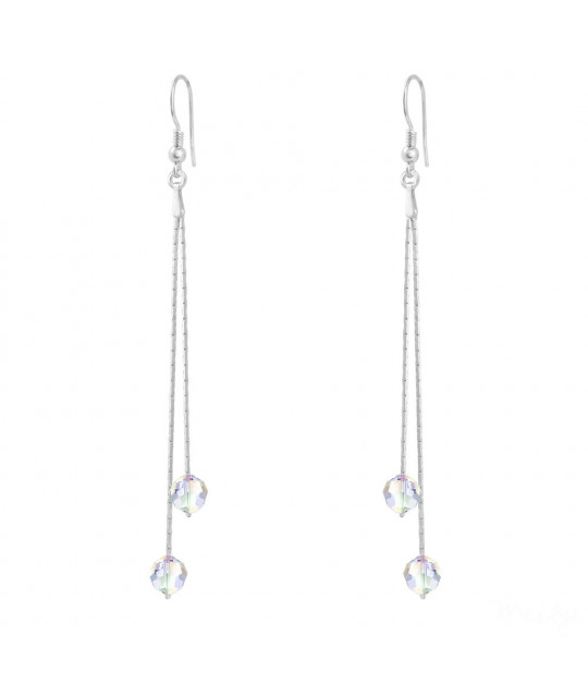 Silver Earrings Cardano, White AB
