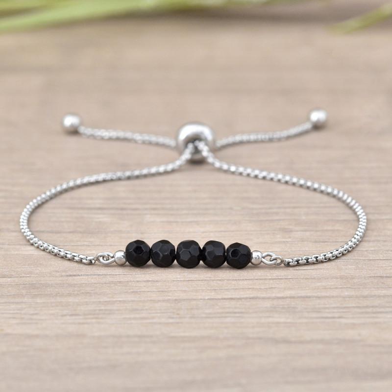Stainless Steel Bracelet Sofia, Onyx