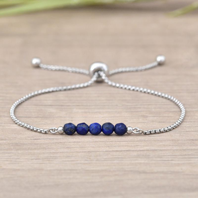 Nerūdijančio plieno apyrankė Sofia, Lapis Lazuli