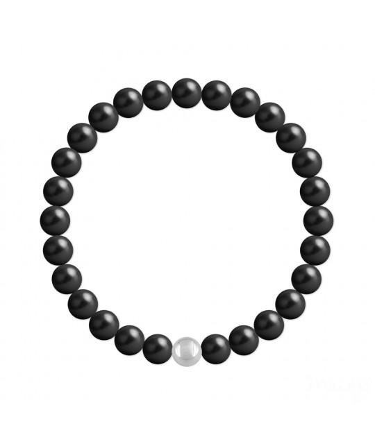 Silver Bracelet Nacreous, Mystic Black