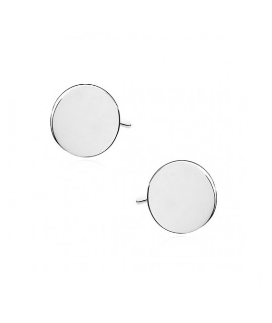 Silver earrings, Circle