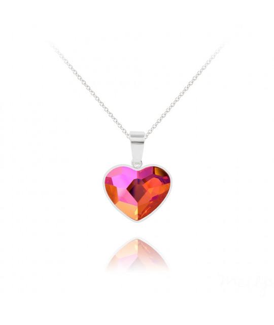 Sidabriniai karoliai Heart V2, Astral Pink