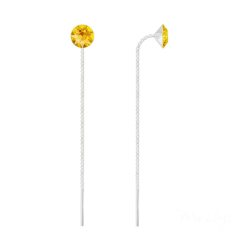 Hõbedast kettkõrvarõngad Xirius, Yellow Opal