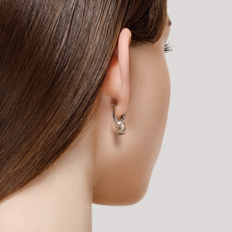 Silver earrings SOKOLOV with quartz