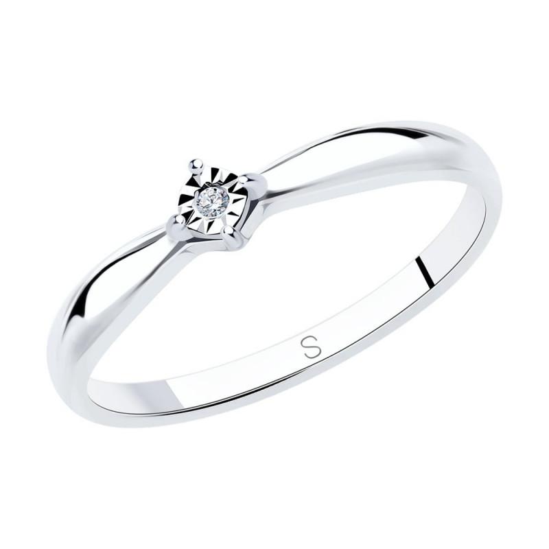 Silver SOKOLOV ring with diamond