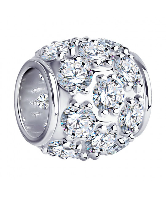 Silver pendant-charm SOKOLOV with cubic zirkonia
