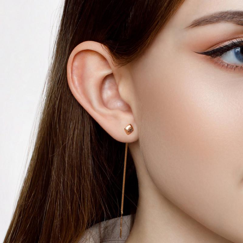 Kuldsed kõrvarõngad teemantlõikega