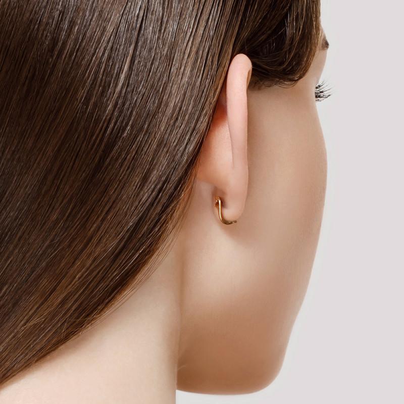 Auksiniai auskarai SOKOLOV su kubiniu cirkoniu