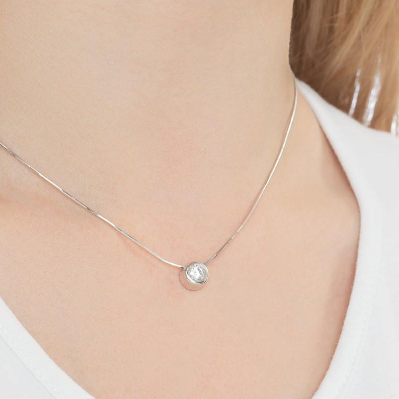 Silver pendant SOKOLOV with cubic zirkonia