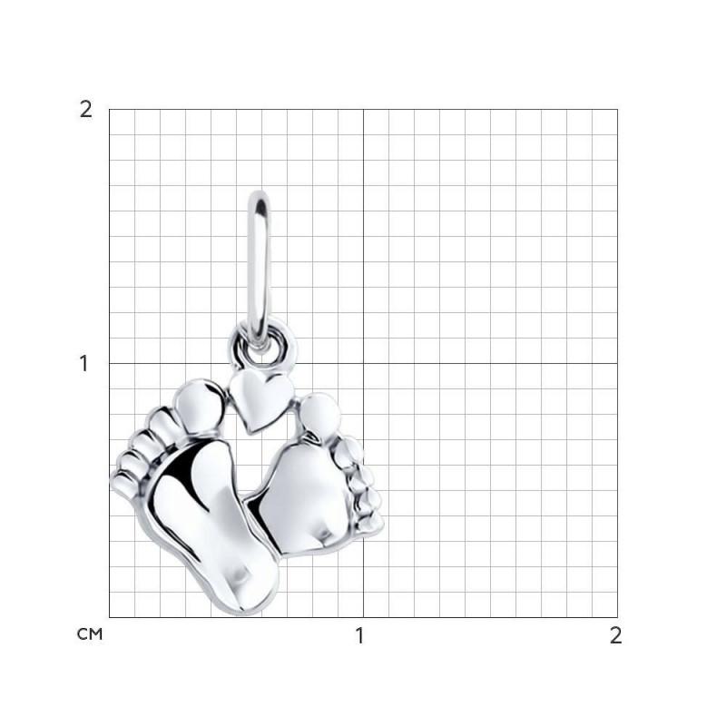 """Silver SOKOLOV pendant """"Feet"""""""
