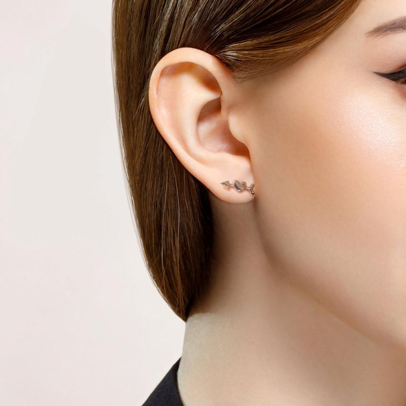 Silver earrings SOKOLOV, Love