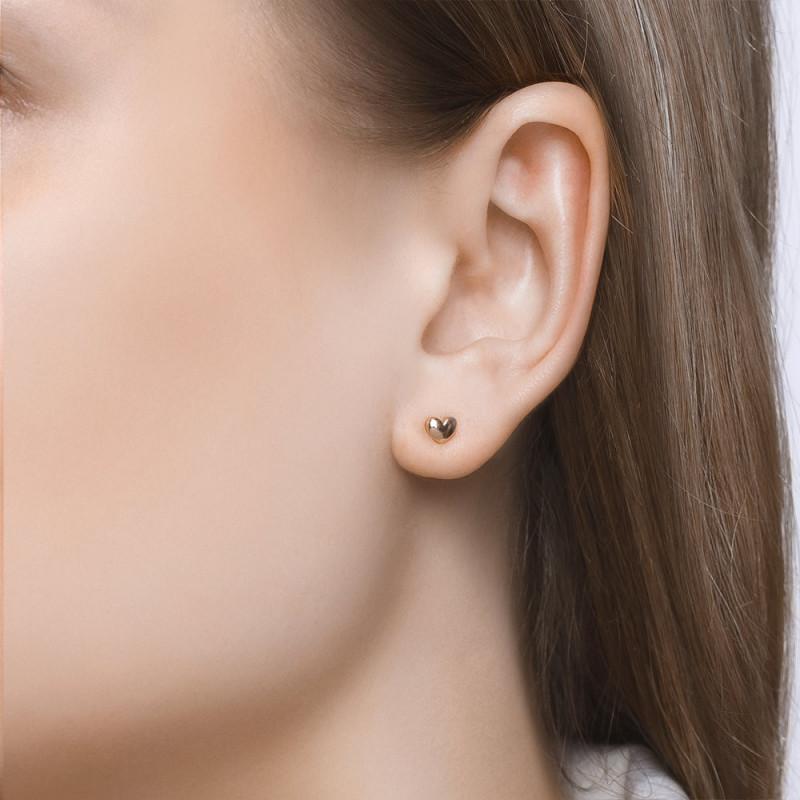 Asymmetric SOKOLOV gold stud earrings
